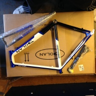 Dolan Frame ready to be built up, Mobile Bike Repair, Sutton Coldfield, Tamworth, Birmingham, Mobile Shop