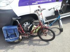 Folding bikes after basic service.